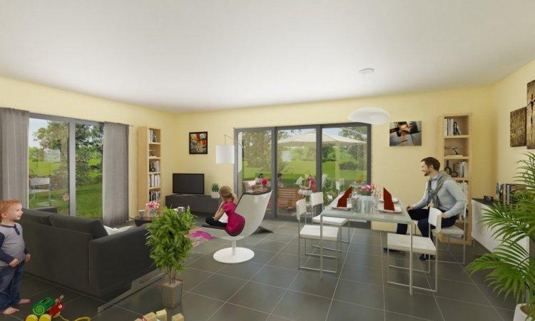 Perspective intérieure pour une maison à Issoire dans le Puy-De-Dôme